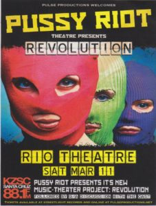 Flyer for Pussy Riot Theatre Revolution