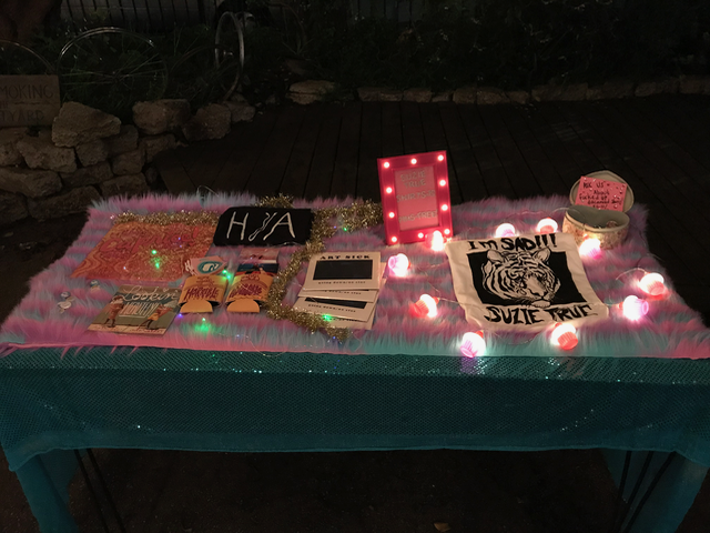 Merch Table at Subrosa